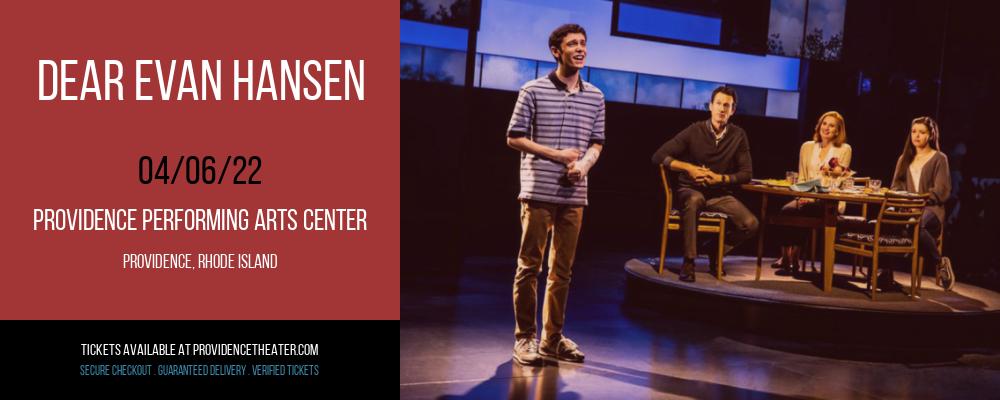Dear Evan Hansen at Providence Performing Arts Center