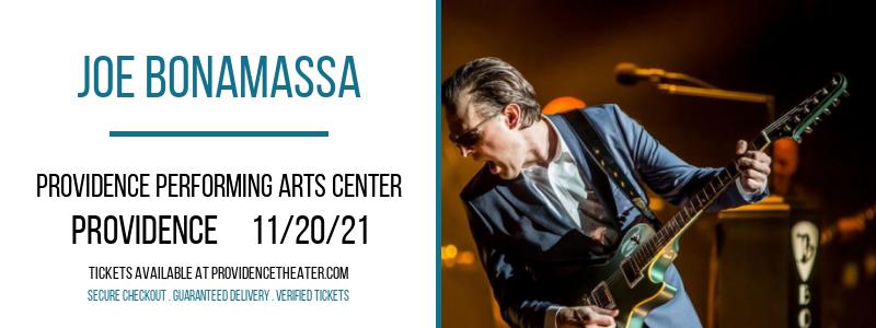 Joe Bonamassa at Providence Performing Arts Center